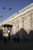 Entrada a la mezquita de Umayyad en Damasco Fotos de archivo