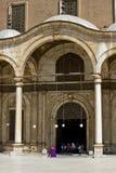 Entrada a la mezquita del alabastro foto de archivo libre de regalías