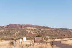 Entrada a la mina del manganeso de Morokwa Fotos de archivo libres de regalías