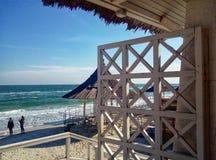 Entrada a la playa foto de archivo libre de regalías