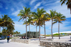 Entrada a la playa del sur de Miami, Estados Unidos fotografía de archivo