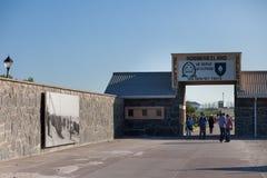Entrada a la prisión de la isla de Robben foto de archivo