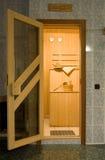 Entrada a la sauna Imágenes de archivo libres de regalías