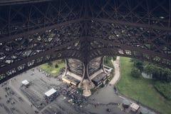 Entrada a la torre Eiffel Foto de archivo libre de regalías