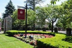 Entrada a la universidad de Boston Fotografía de archivo libre de regalías