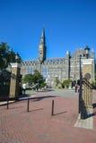 Entrada a la universidad de Georgetown imágenes de archivo libres de regalías