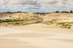 Entrada a las dunas en Leba. fotografía de archivo