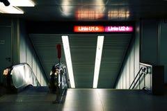 Entrada al subterráneo de Viena Fotos de archivo libres de regalías
