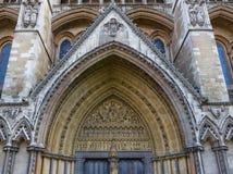 Entrada lateral a la abadía de Westminster Imagenes de archivo