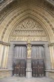 Entrada lateral a la abadía de Westminster, Londres Fotografía de archivo