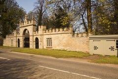 Entrada listada da entrada a Redbourne Salão Fotos de Stock Royalty Free