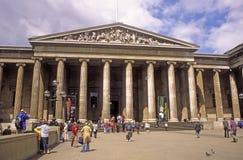 Entrada Londres Inglaterra de British Museum Imagen de archivo libre de regalías