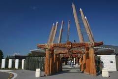 Entrada maorí del sitio de Rotorua Imágenes de archivo libres de regalías