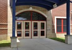 Entrada moderna de la escuela Imagen de archivo