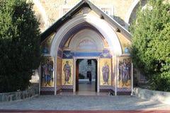 Entrada, monasterio Chipre de Kykkos Foto de archivo libre de regalías