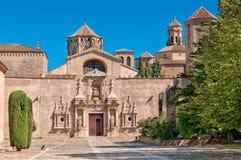 Entrada, monasterio de Santa María de Poblet, España Imagen de archivo