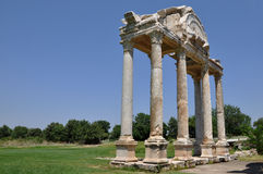 Entrada monumental o Tetrapylon, Afrodisias/Aphrodisias ciudad antigua, Turquía fotos de archivo libres de regalías