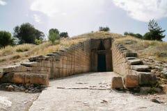 Entrada a Mycenae, Grecia fotos de archivo