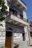 Entrada na cidade do pyrgi, greece Imagens de Stock Royalty Free