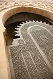 Entrada na mesquita de Hassan II Foto de Stock Royalty Free