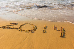 Entrada no banco do mar morno nas figuras Fotos de Stock Royalty Free