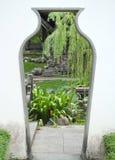 A entrada no jardim chinês Fotografia de Stock