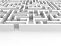 Entrada no labirinto Foto de Stock