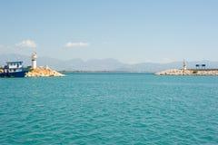 Entrada no porto de Setur Finike imagem de stock royalty free