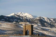Entrada norte de Yellowstone fotografia de stock