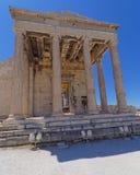 Entrada norte do templo do erechtheion Fotografia de Stock Royalty Free