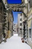 Entrada ou Roman Arch idoso em Rijeka, Croácia Fotos de Stock Royalty Free