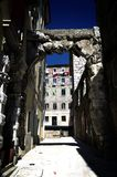Entrada ou Roman Arch idoso em Rijeka, Croácia Fotos de Stock
