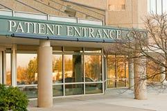 Entrada paciente en el hospital Fotografía de archivo libre de regalías
