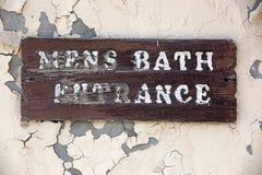 Entrada para hombre del baño Fotografía de archivo libre de regalías