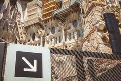 Entrada para los grupos turísticos de la Sagrada Familia Fotografía de archivo