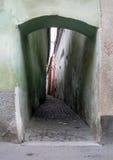 Entrada para rope a rua em Brasov Romania imagem de stock royalty free