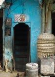 Entrada perto do mercado do ar livre, Udaipur, Índia Imagem de Stock