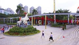 Entrada popular del pueblo de China espléndida Imagenes de archivo