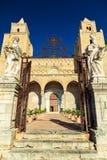 Entrada principal à catedral de Cefalu Fotografia de Stock
