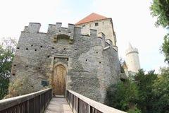 Entrada principal al castillo de Kokorin Foto de archivo libre de regalías