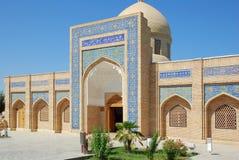 A entrada principal ao mausoléu de Bahauddin Naqshbandi em Bukhara foto de stock royalty free