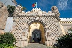 Entrada principal ao palácio do nacional de Pena Fotos de Stock Royalty Free
