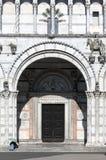 A entrada principal ao San Martino Cathedral em Lucca Imagem de Stock Royalty Free