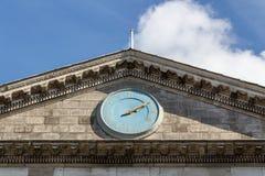 Entrada principal da faculdade da trindade em Dublin, Irlanda, 2015 Imagens de Stock Royalty Free
