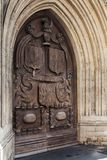 Entrada principal de Abbey Church, baño, Reino Unido Fotos de archivo libres de regalías