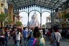 Entrada principal de Disneylândia do Tóquio Imagem de Stock Royalty Free