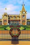 Entrada principal de Hong-Kong Disneyland imágenes de archivo libres de regalías
