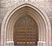 Entrada principal de la iglesia Imagen de archivo libre de regalías