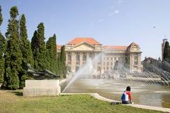 Entrada principal de la universidad Fotos de archivo libres de regalías