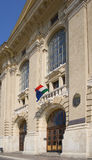 Entrada principal de la universidad Fotografía de archivo libre de regalías